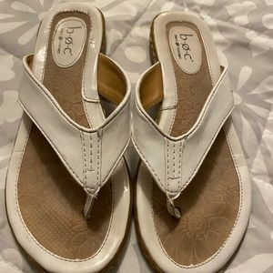 BOC white SlipOn Sandals Size 6.5